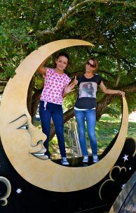 Rachel Kiernan & Emma Tierney on the moon at Electric Picnic 2013