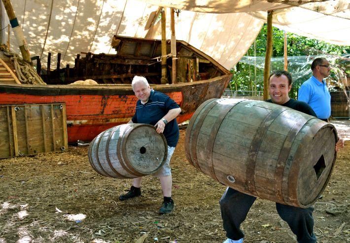 Having a barrel of laughs!