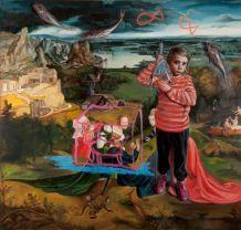 Geraldine O'Neill (b.1971) Is feidir le cat Schrödinger an dá thrá a fhreastal, 2014 Oil on canvas | 200 x 210cm