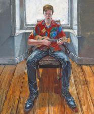 Una Sealy (b.1959) Hibiscus Blues (Portrait of Douglas), 2014 Oil on canvas | 120 x 100cm