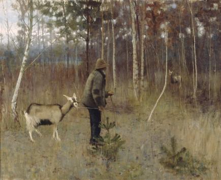 John Lavery - 'The Return of the Goats'