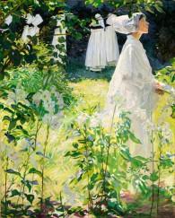 William Leech - 'A Convent Garden'